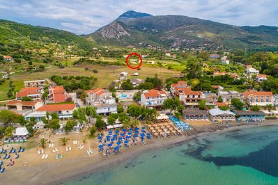 Aerial view of Katelios showing location of Villa Alexandra