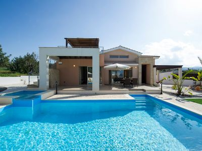 Photo for Villa Thalassa: Large Private Pool, Walk to Beach, A/C, WiFi, Car Not Required