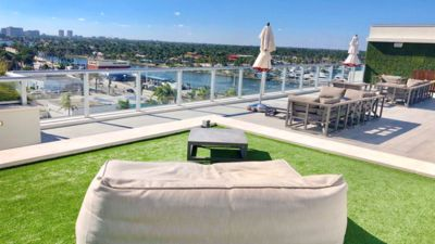 Photo for NEW Beachfront Condo Resort Balcony bed den