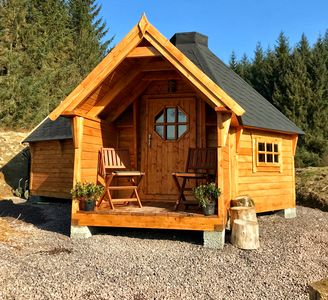 Photo for The Nest Glamping cabin with en-suite bathroom and amazing views