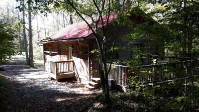 Photo for Cabin Is Privately Situated On The Edge Of A Large Wooded Track Of Land.