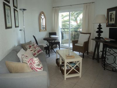 Photo for Marbella Sea Front Apartment. Sleeps 2. 2nd floor. Awesome sea/garden views. WIF