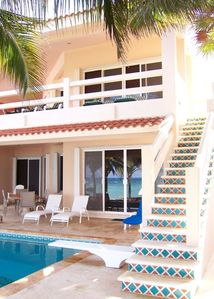 Pool and Steps to Ocean Side Balcony