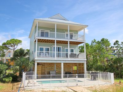 Photo for Gulf-front, new construction, private salt water pool and beach access