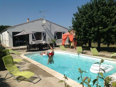 Photo for BEAUTIFUL HOUSE 400M PRIVATE POOL SWIMMING POOL HEATED ON 1600M2