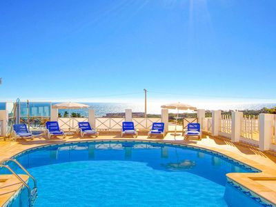 Photo for Villa Albuar- stunning sea views, heated pool, WiFi, AC, BBQ, near beach & shops