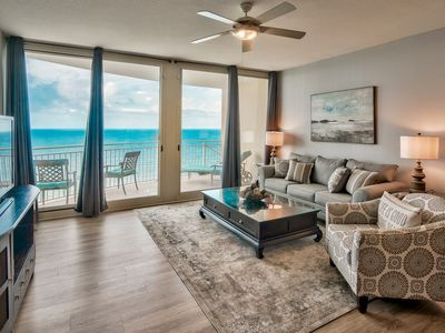 Photo for AQUA1704 Beachfront/No contact check in-out/High Clean Standards/Beach Chairs