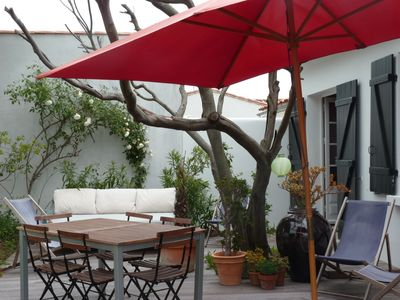 Photo for Charming house 200m from the beach, enclosed garden 175m²