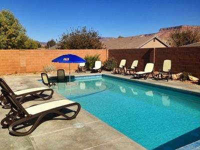 Photo for NEW! Private POOL 32'x16', sleeps 15, Jacuzzi,  TV/Game rm, Playset for Kids