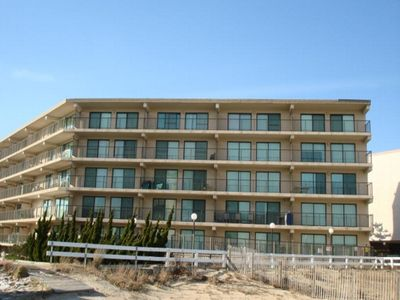 Photo for Ocean Block Condo w/ views of the ocean and beach, large balcony and pool, steps from the beach!