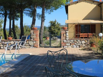 Photo for Private Home & Private Pool with 360 Degree Panoramic  Views of Umbria & Tuscany