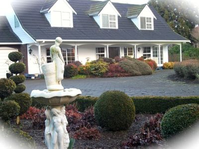 Photo for Quality mountain retreat stunning gardens and view