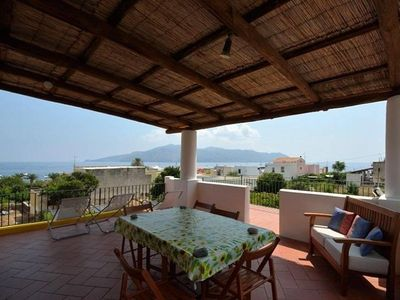 Photo for Santa Marina Salina: Beautiful eolian house with garden, great panorama on the sea