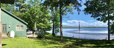Lake cottage with sandy beach front and relaxing views.