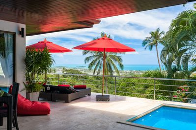 Stunning ocean views from your villa terrace