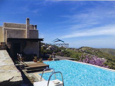 Photo for Sunny house with a great sea view and a swimming pool