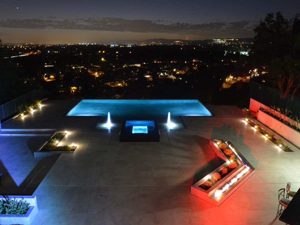 infinity pool night. Multi-Million Dollar Dream Villa, Infinity Pool, Spectacular View. Pool Night