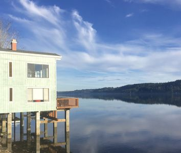 Photo for WARM SUMMER WATERS Hood Canal Mid-Century Modern Loft-Style House Over the Water