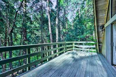 Your Pollock Pines retreat begins with this 1BR, 1-bath vacation rental cabin.
