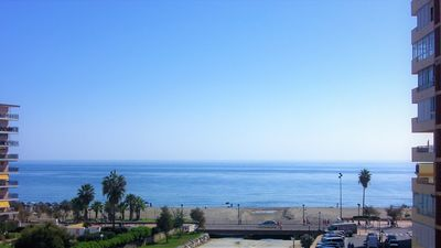 Photo for Bright apartment overlooking the sea in Los Boliches area.