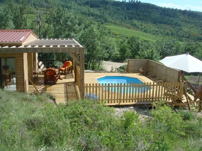 Photo for SPECIAL OFFER Nice cottage classified 3* private pool views in vineyard Limoux