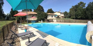 Photo for Beautiful Girondine stone on 5 Ha. Pool, billiards ...