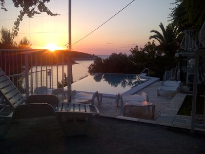 Photo for Studio Apartment with 4 beds and heated, infinity pool, familiy friendly,