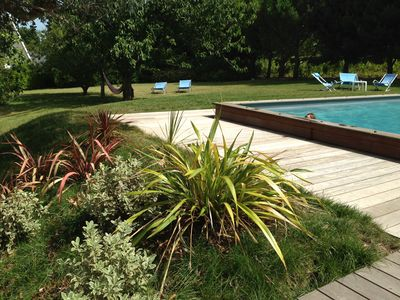 Photo for Very nice Breton house, private pool on large garden, 400m sea