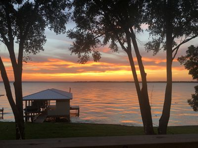 Photo for Stunning Lakefront Property with Stellar Sunset Views - Sleeps 12