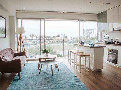 Photo for Modern apt with amazing view - Barranco