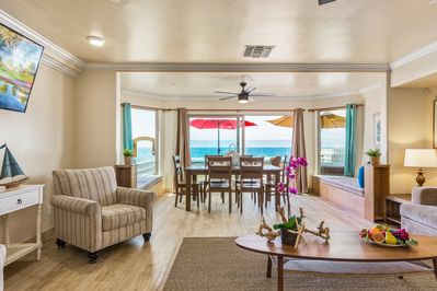 Oceanfront Living and Dining Space