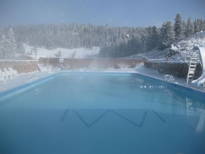 Photo for Geothermal Ranch Lodge with private Hot Springs Pool, Sleeps 25-50.