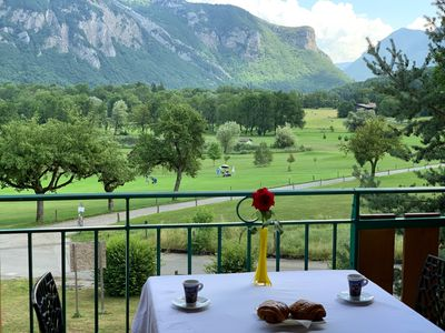 Photo for BALCONY GOLF with pool 5 minutes from Lake Annecy mountains of Haute Savoie