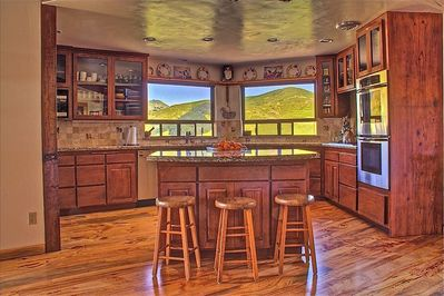 The billion dollar view kitchen.  2 dishwashers, 2 ovens and and.