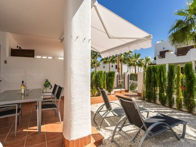 Photo for Lovely and cheerful apartment in San Juan de los Terreros, Andalusia, Spain  with communal pool for 4 persons