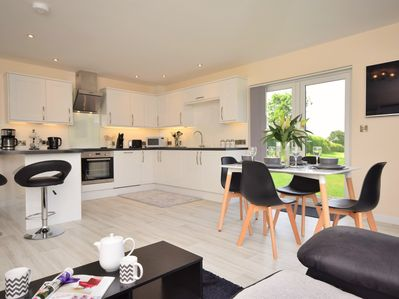 Open-plan lounge/kitchen/diner which leads out onto the rear garden