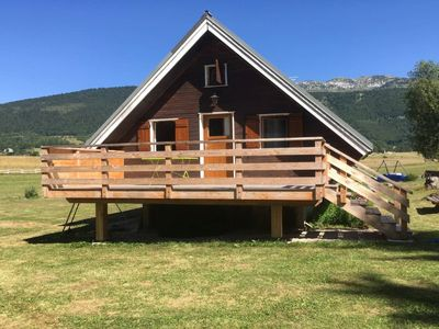 Photo for Cozy chalet, beautiful view in the heart of the Vercors massif