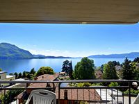 You have a beautiful view over the lake. The apartment is small but has all the  ...