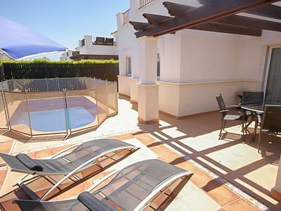 Photo for MurciaVacations - Bungalow Villa with Pool, 2 Bedrooms and rooftop solarium - La Torre Golf BA22LT