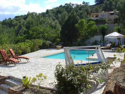 Photo for A beautiful villa with views of the azure sea surrounding Ibiza.