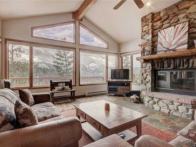 Photo for Sunset Chalet, stunning views of the Ten-Mile Range! 3 bedroom plus bonus bunk beds