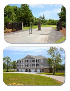 Entrance gate and Townhouse building