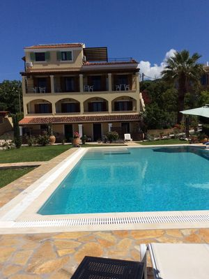 Photo for Large villa, seaview, very nice pool area, big pool, walking distance beach