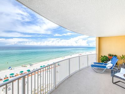 Photo for NEW LISTING! Beachfront rental with ocean views, resort pool, hot tub and grills