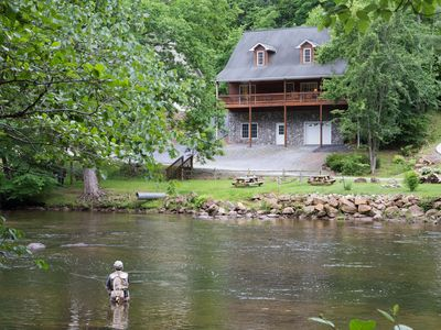 Photo for Awesome Cabin Directly On The Tuckaseggee River!  Near WCU