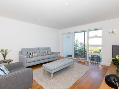 Photo for NEW! Ocean-view luxury 2 bed apartment, with terrace, balcony & gated parking