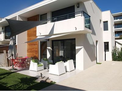 Photo for MODERN VILLA TYPE 5, with garden 30 METERS FROM THE GREAT BEACH CARNON