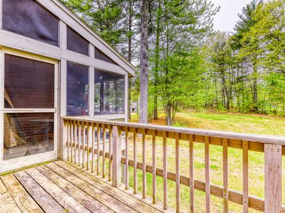 Photo for Spacious townhome with a deck, fireplace, and a shared pool!