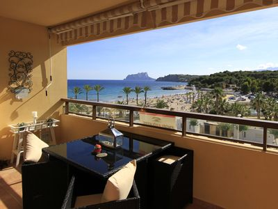 Photo for Beautiful apartment, seaview, beach 50 m, 2 min. to center, sleeps 2 adults