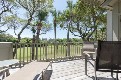 Back deck with awesome golf views